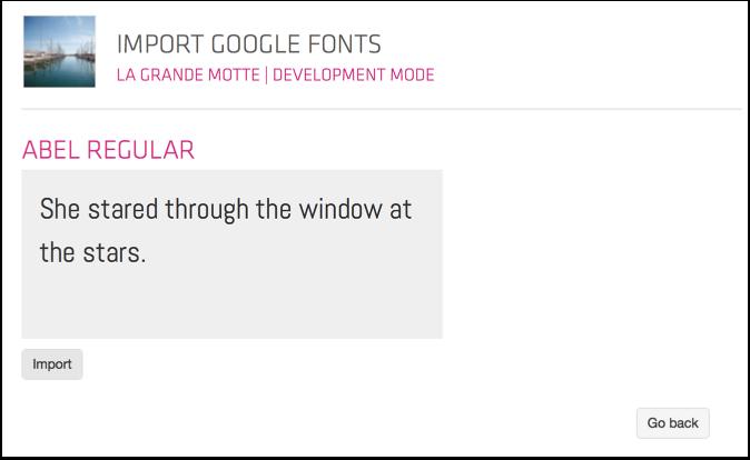 Import a Google Font
