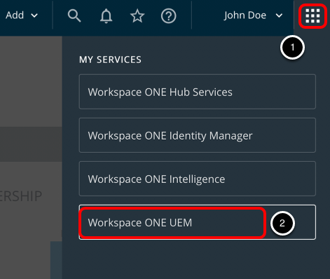 Return to Workspace ONE UEM Console