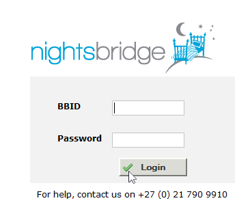 Log in with BBID and Password.