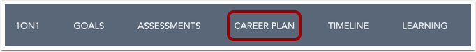 Open Career Plan from the Employee View menu.