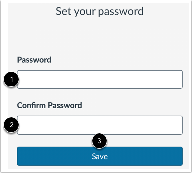 Create and Confirm Password