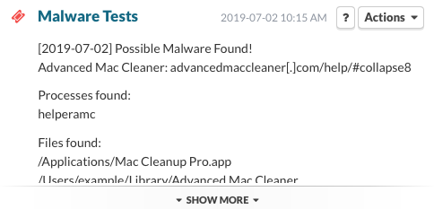 Malware Test - Possible Malware Found