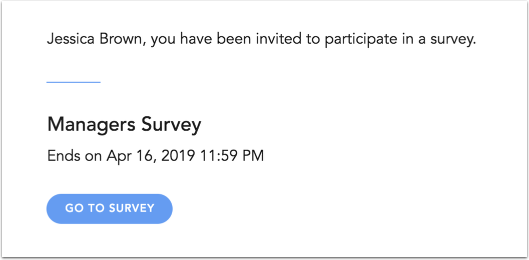 View Survey Invitation