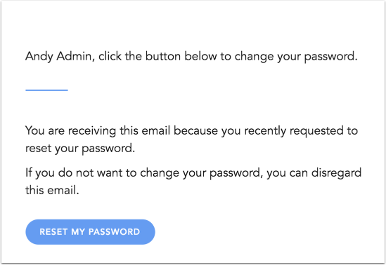 View Password Reset Notification