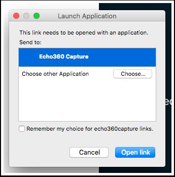 Launch Application window