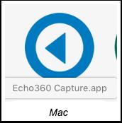 Echo360 capture icon for mac
