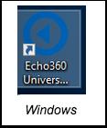Echo360 capture icon for windows