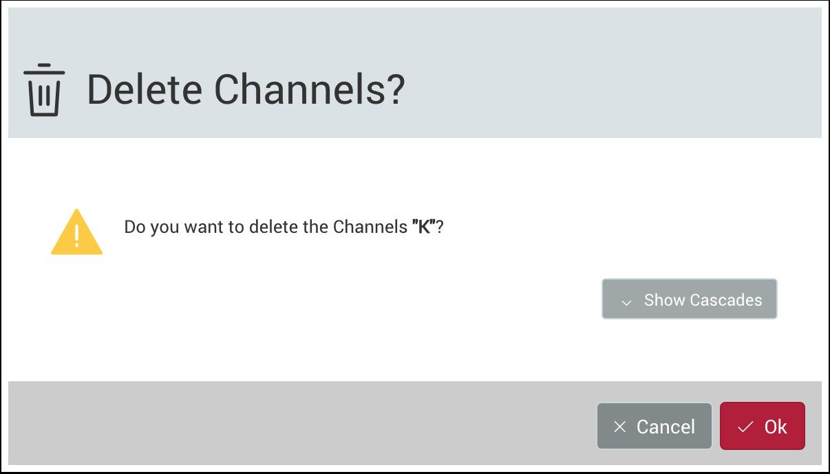 Delete a Channel Configuration