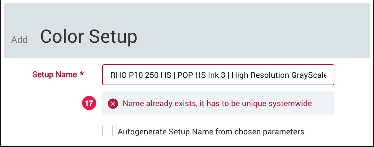 Add Color Setup dialog - name already exists - 1.7.4