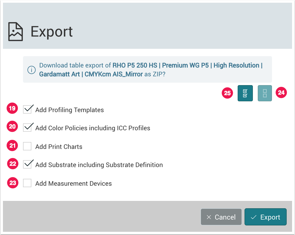 Export Color Setup - 1.7.4