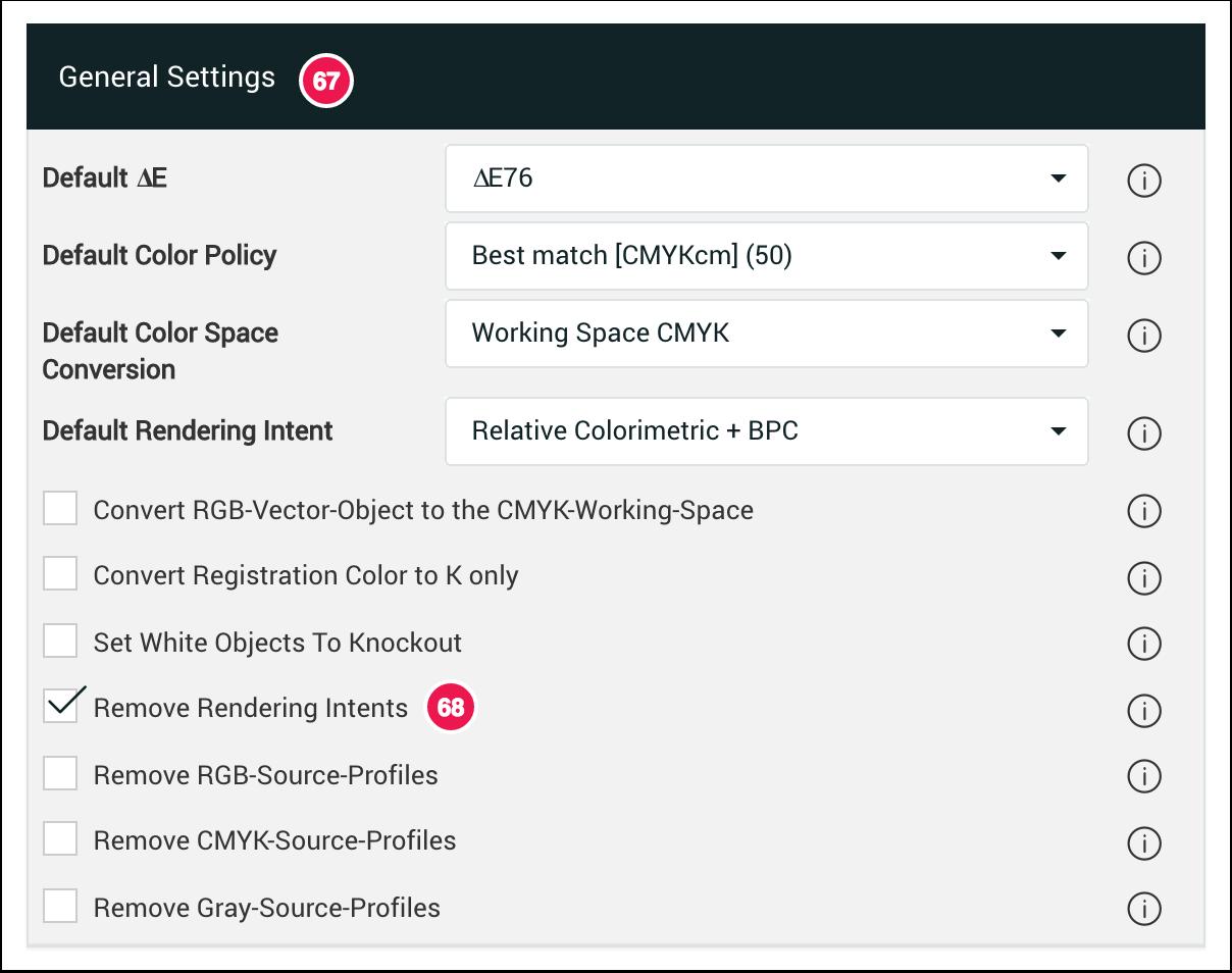 General Settings Remove Rendering Intents - 1.7.4