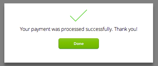 Payment is processed