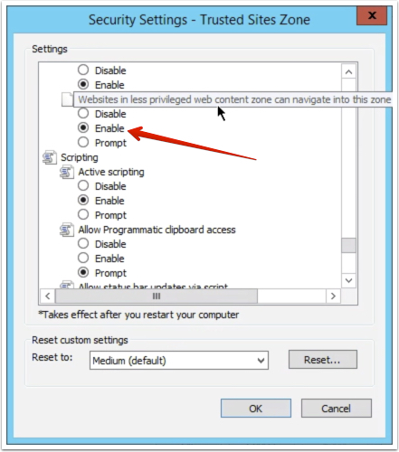 Step 10 - Configure settings for navigating between security zones