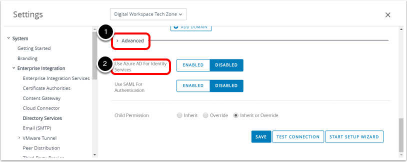 Enable Azure AD For Identity Services