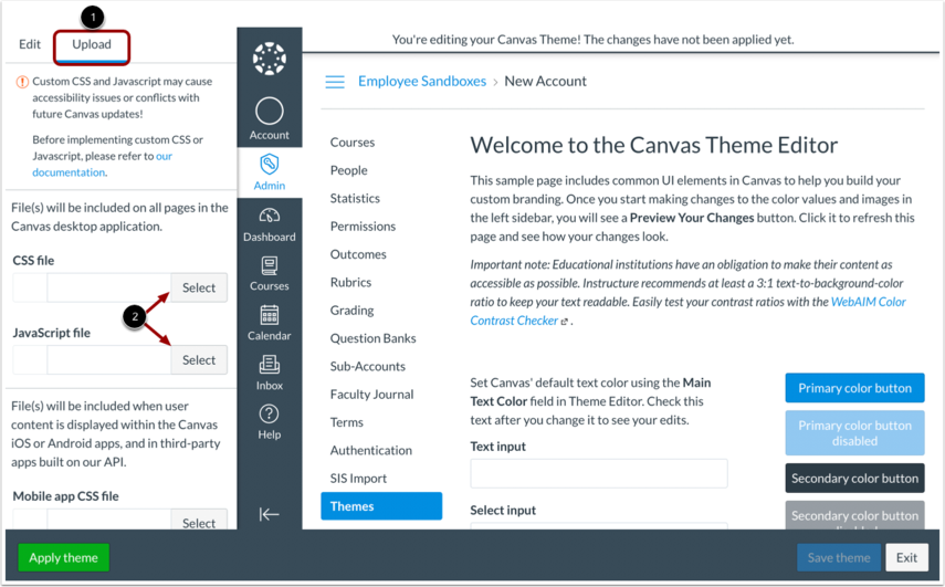 Theme Editor—Upload