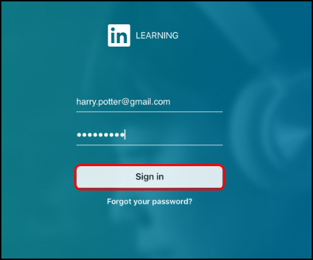 LinkedIn profile login