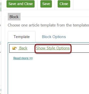 Styling the summary block
