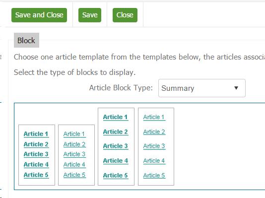 Select Summary Style