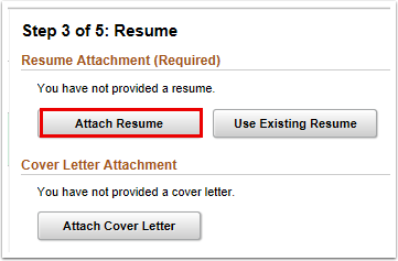 Attach resume button