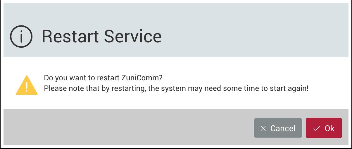 Restart Service warning dialog - 1.7.5