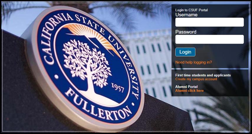 Cal State Fullerton Login Portal.