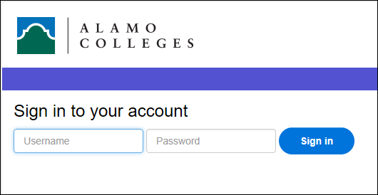 Enter your ACES username and password before clicking on Sign in