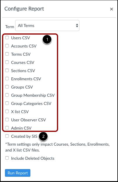 Välj CSV-filer