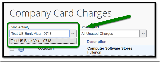 Under Card Activity you can change your view to see transactions that belong to different p-cards.