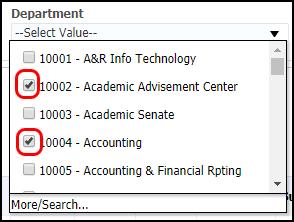 department list