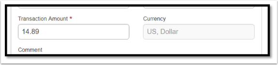 In the Transaction Amount field, confirm the amount.