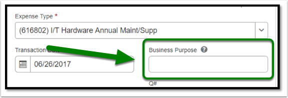 If you want information to be listed in OBIEE, fill out the Business Purpose.