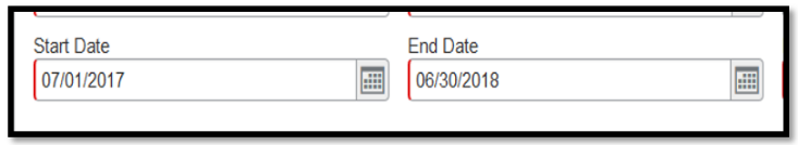Start Date and End Date fields.