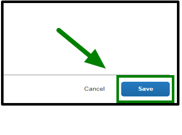 Allocations window. On the lower right-hand corner, there is a save button. This button is highlighted, and there is a green arrow pointing towards it.