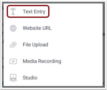Select Text Entry