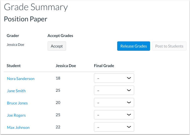 Confirm Final Grades