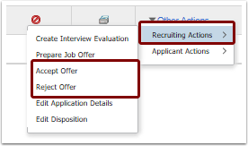 Recruiting actions