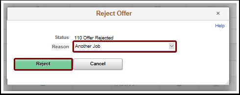reject offer pagelet