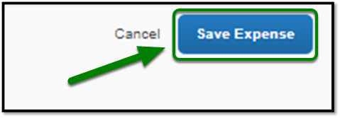 Highlight showing the Save Expense button being selected.