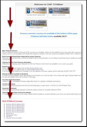 TITANium landing page