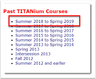 Summer 2018 to Spring 2019 is selected