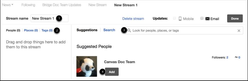 Add Stream Details