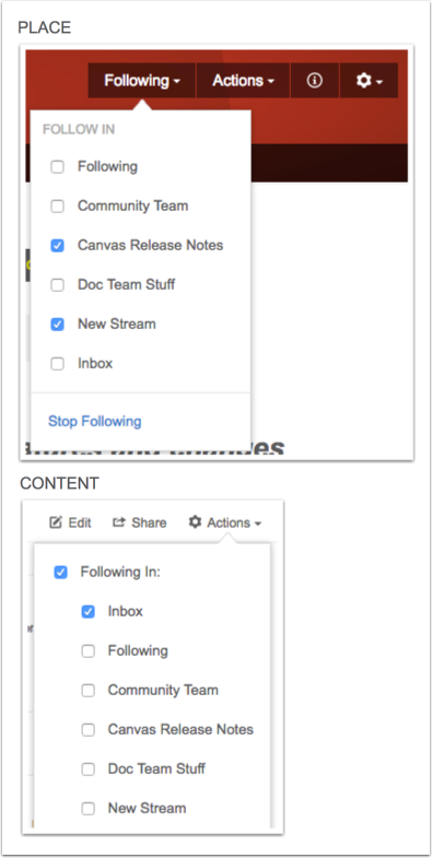 Add New Content to a Custom Stream