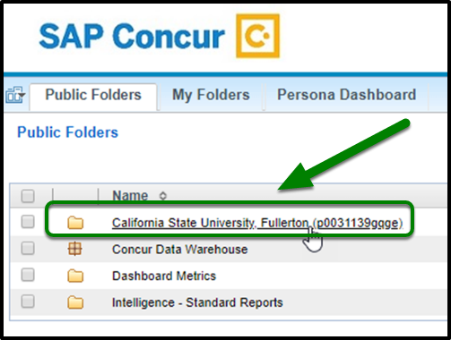 Under Public Folders click on California State University Folder.