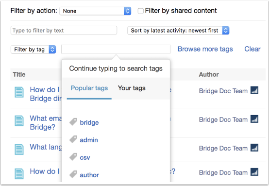 Search by Filter Tags