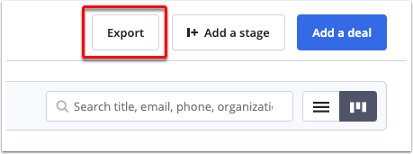 Click the export button.