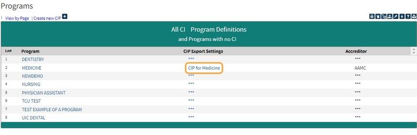 Editing your CIP Program settings