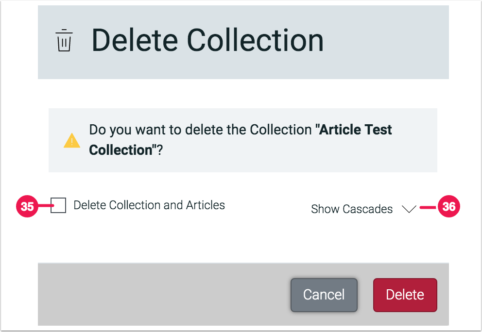 File Manager - Delete Collection - 1.7.5