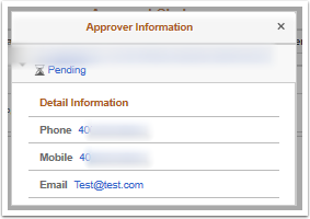 Approver Information pagelet