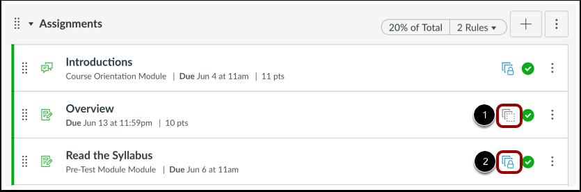 Visualizar status do ícone