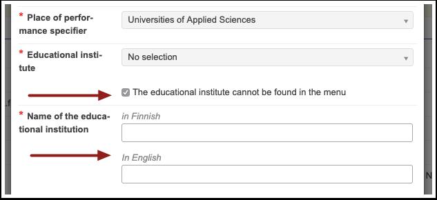 PIC: Educational institute not in the menu